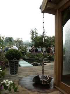 Rain Chain to Bespoke Planter