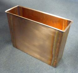 Rectangular copper planter
