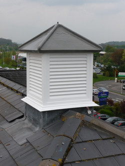 Roof turrets for retail parks