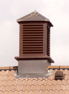 Cupola in dark brown