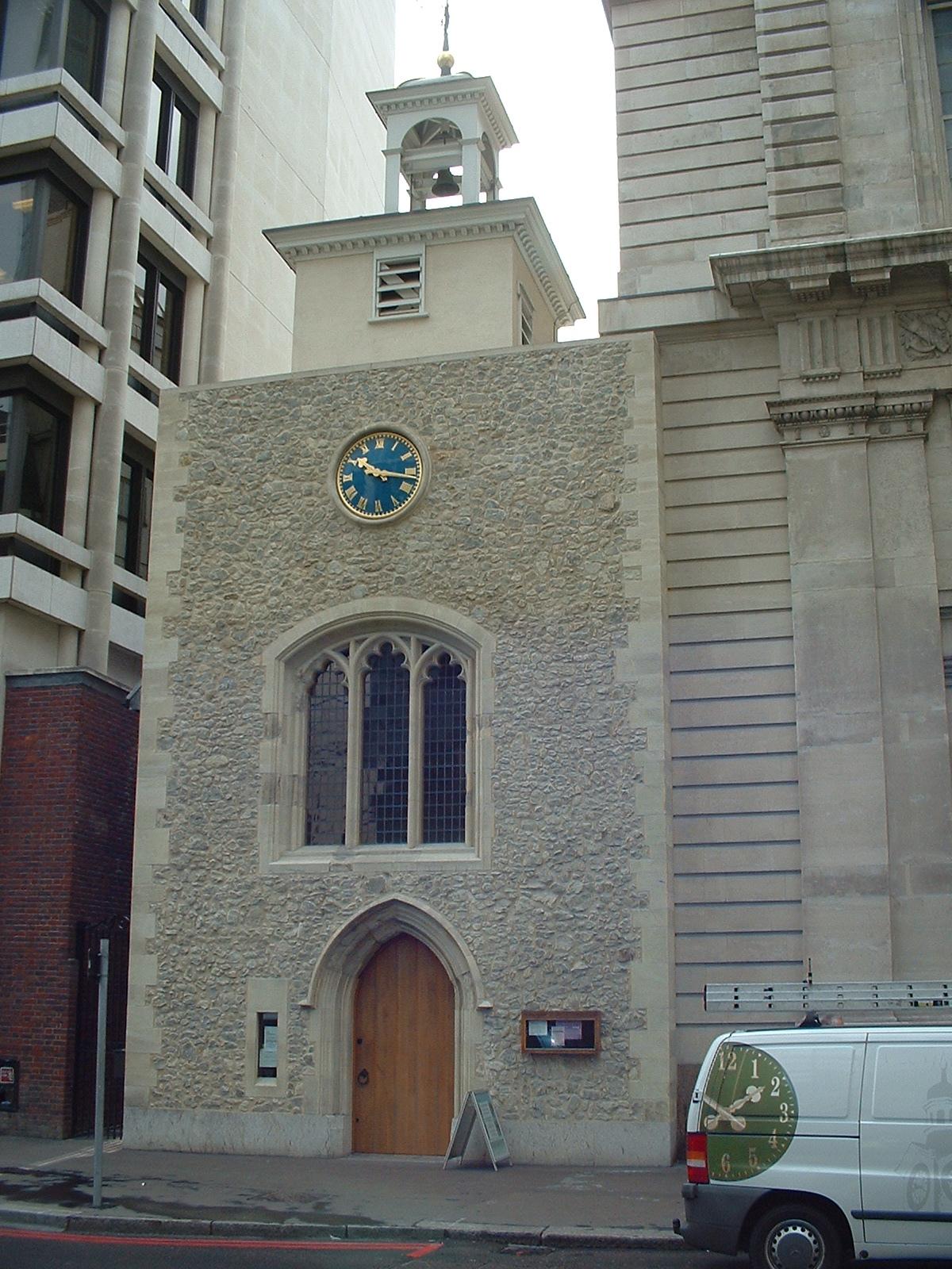 Clock outside church