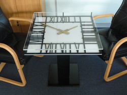 Square clock table