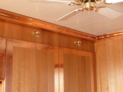 Guttering used as ceiling cornice