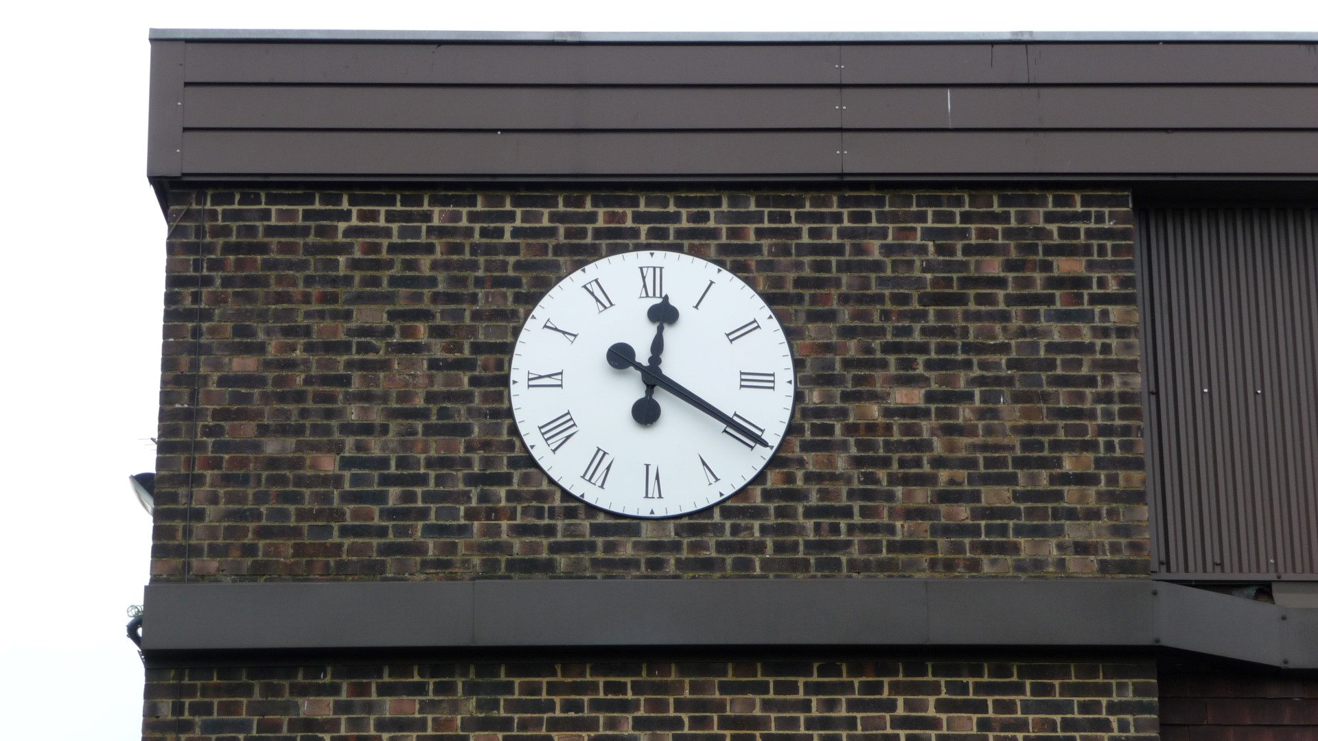 Large exterior clock for clubhouse