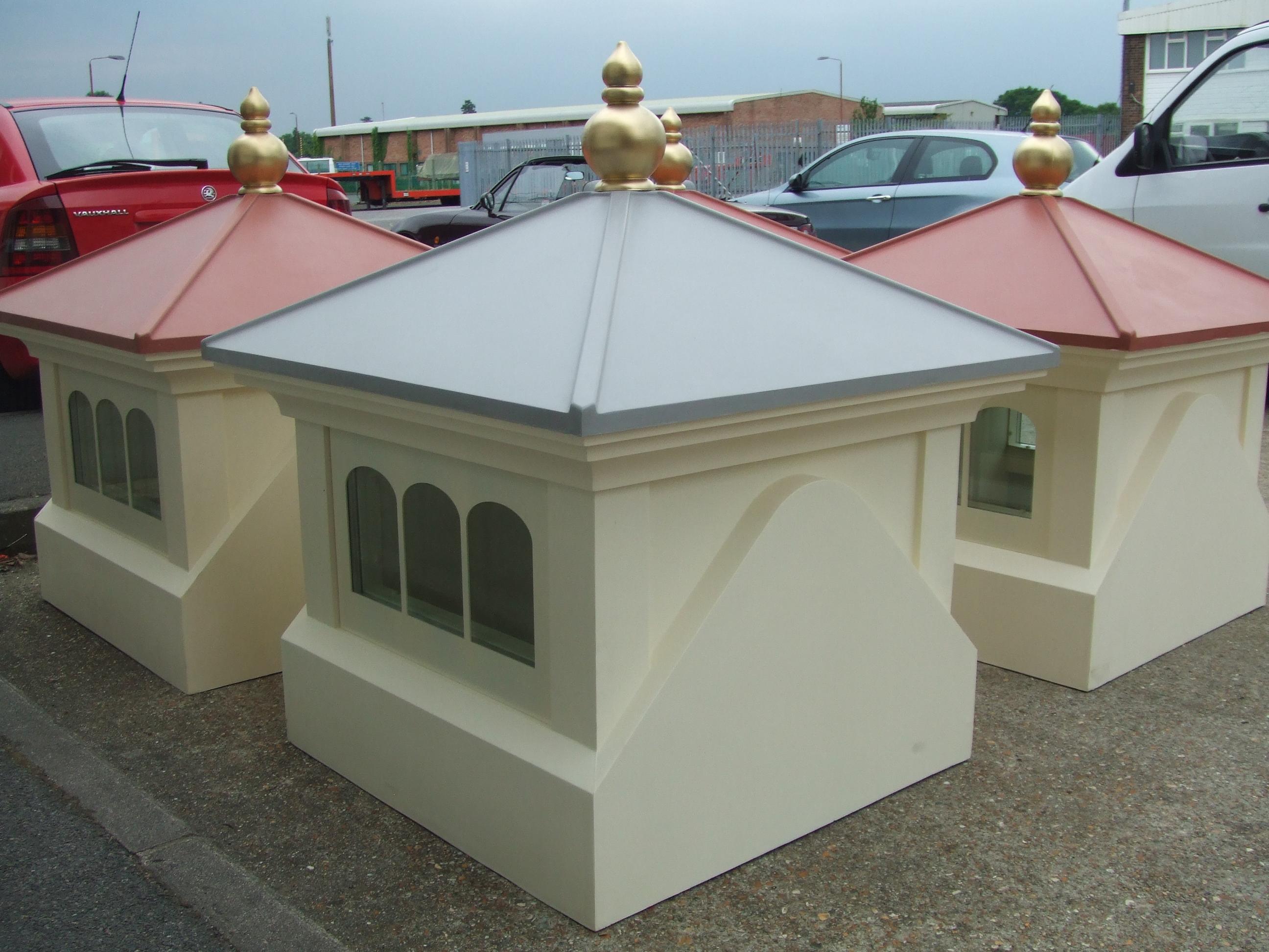 Glazed cupolas