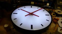 Illuminated large exterior clock