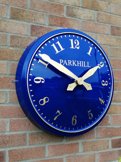 Outdoor clock with Arabic numerals