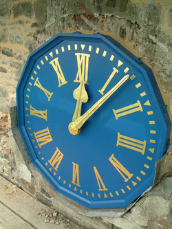 Restored clock dial for church