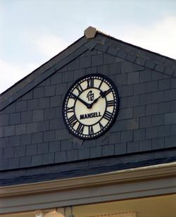 Clock with corporate branding
