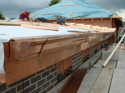 Copper gutter and fascias