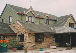 Copper fascias and guttering