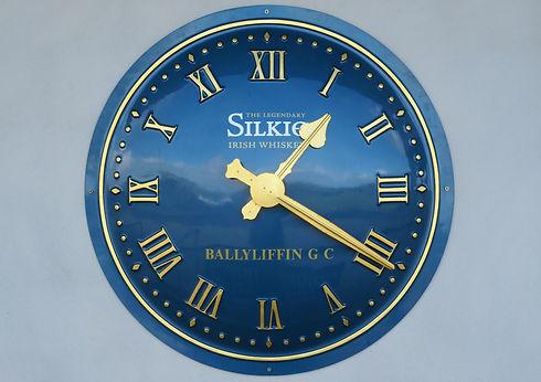 Sign written exterior clock