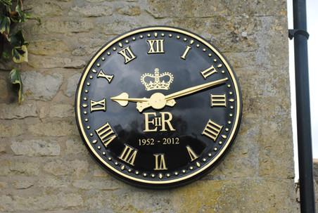 Exterior clock by Hawkins Clocks