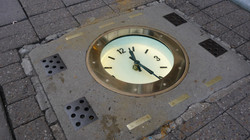 Pavement clock