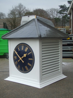 Clock tower with venting louvres