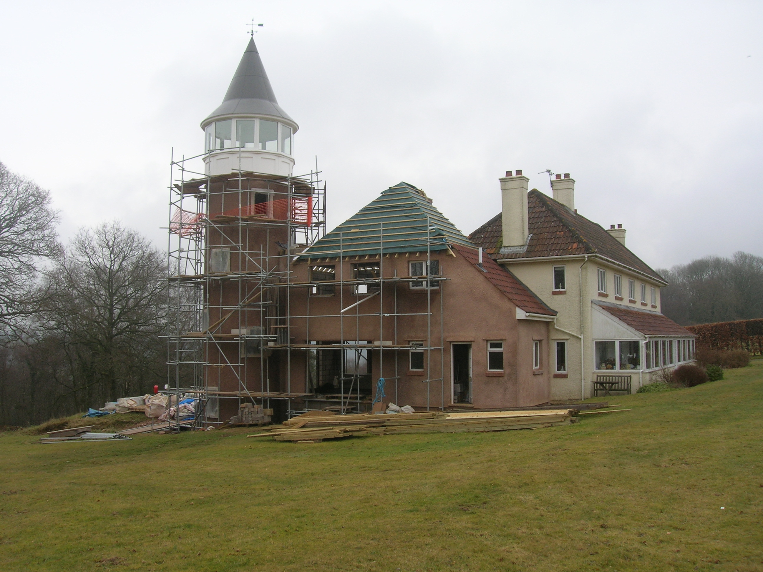 Bespoke glazed tower