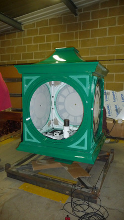 Pillar clock in our factory