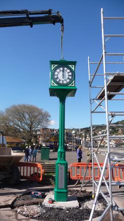 Public pillar clock