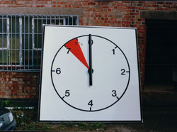 Large timing clock for polo
