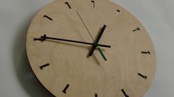 Laser cut wood interior clock