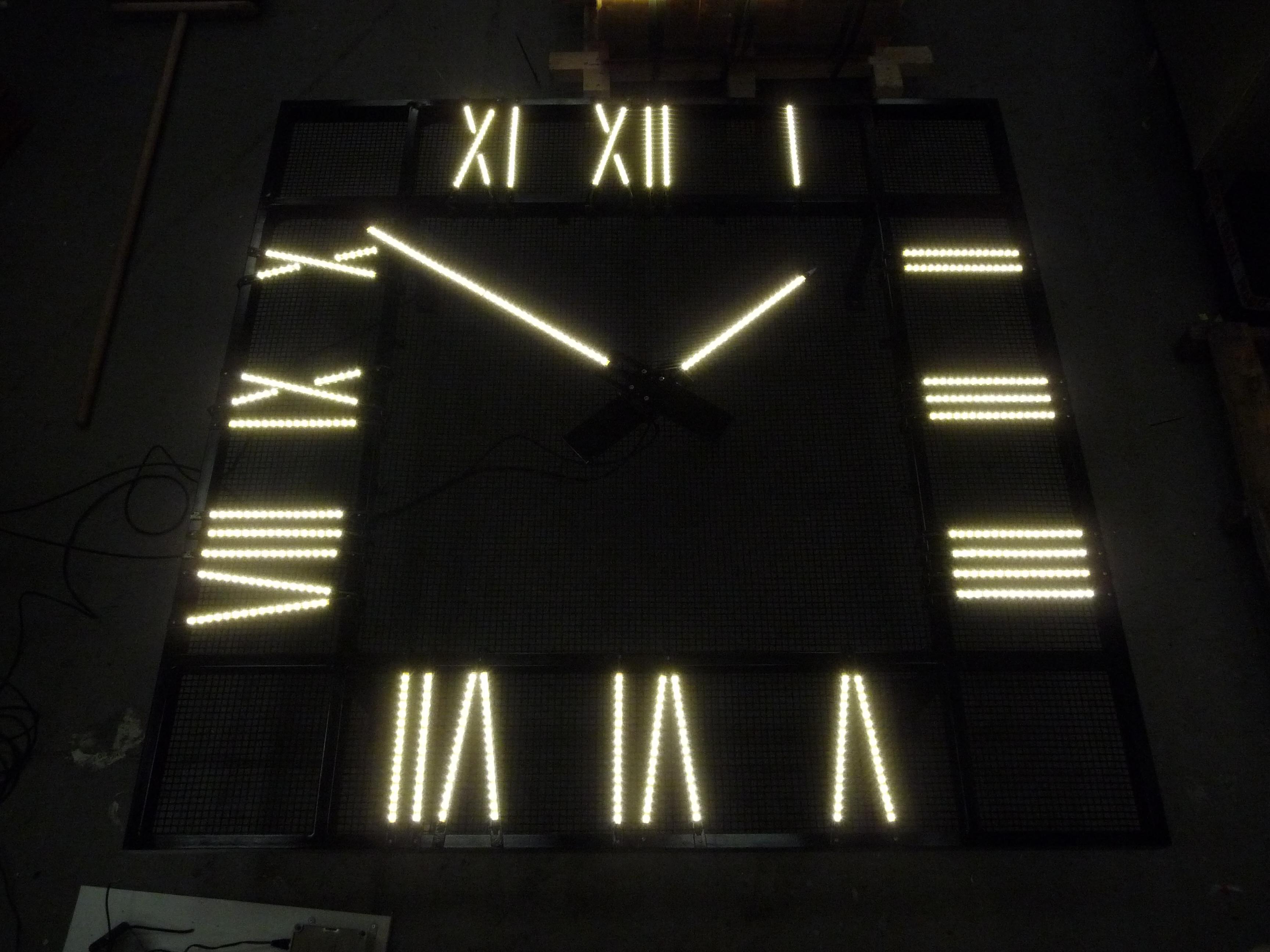 Square exterior clock