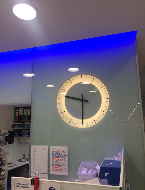 Illuminated clock for Boots Chemist