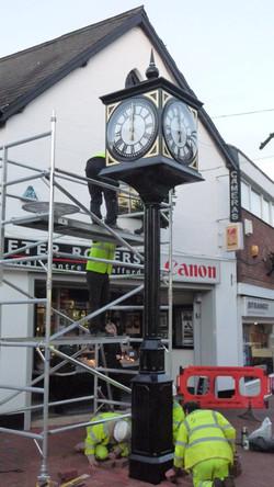 Shopping centre pillar clock