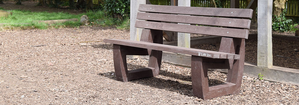 Recycled plastic playground seating