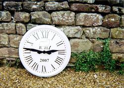 Sign written large exterior clock
