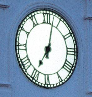 Skeleton exterior clock
