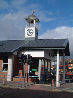 Clock towers for retail shops