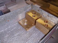 Brass clock plates