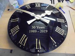 Classic Clock with return edge
