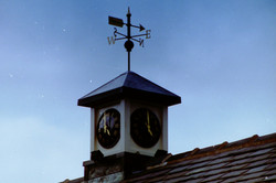 Clock Tower with weathervane