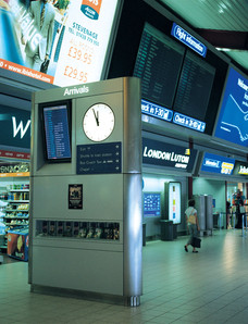 Clocks for stations and airports