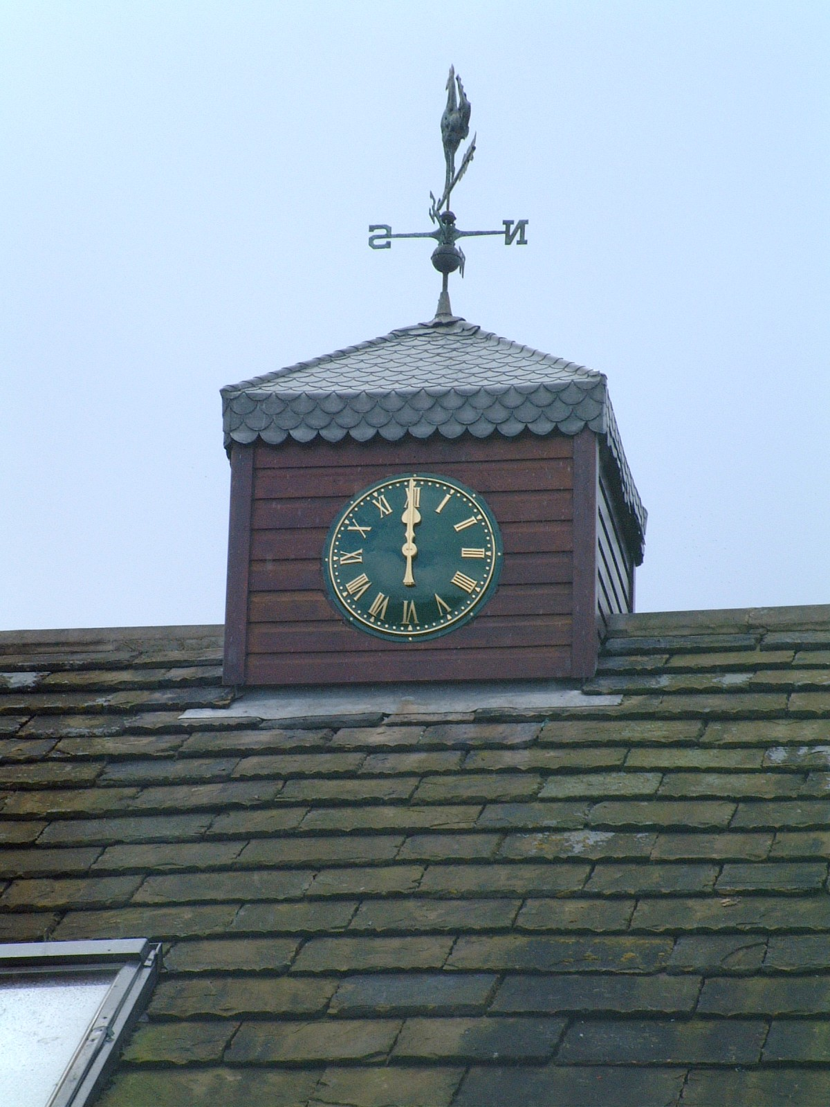 Green Traditional Clock