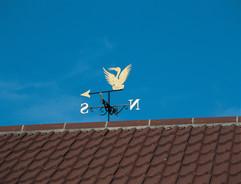 Gold Bird Weathervane