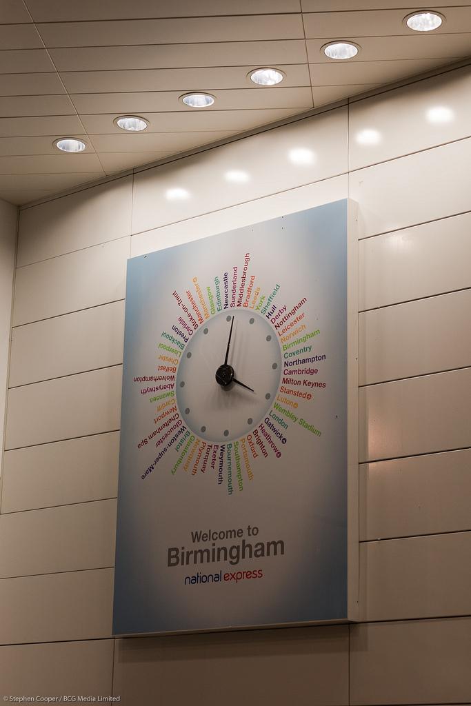 Bus Station bezel clock