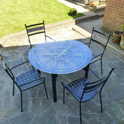 Patio clock table