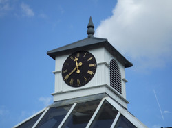 Clock tower with real louvres