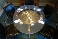 Conference room clock table