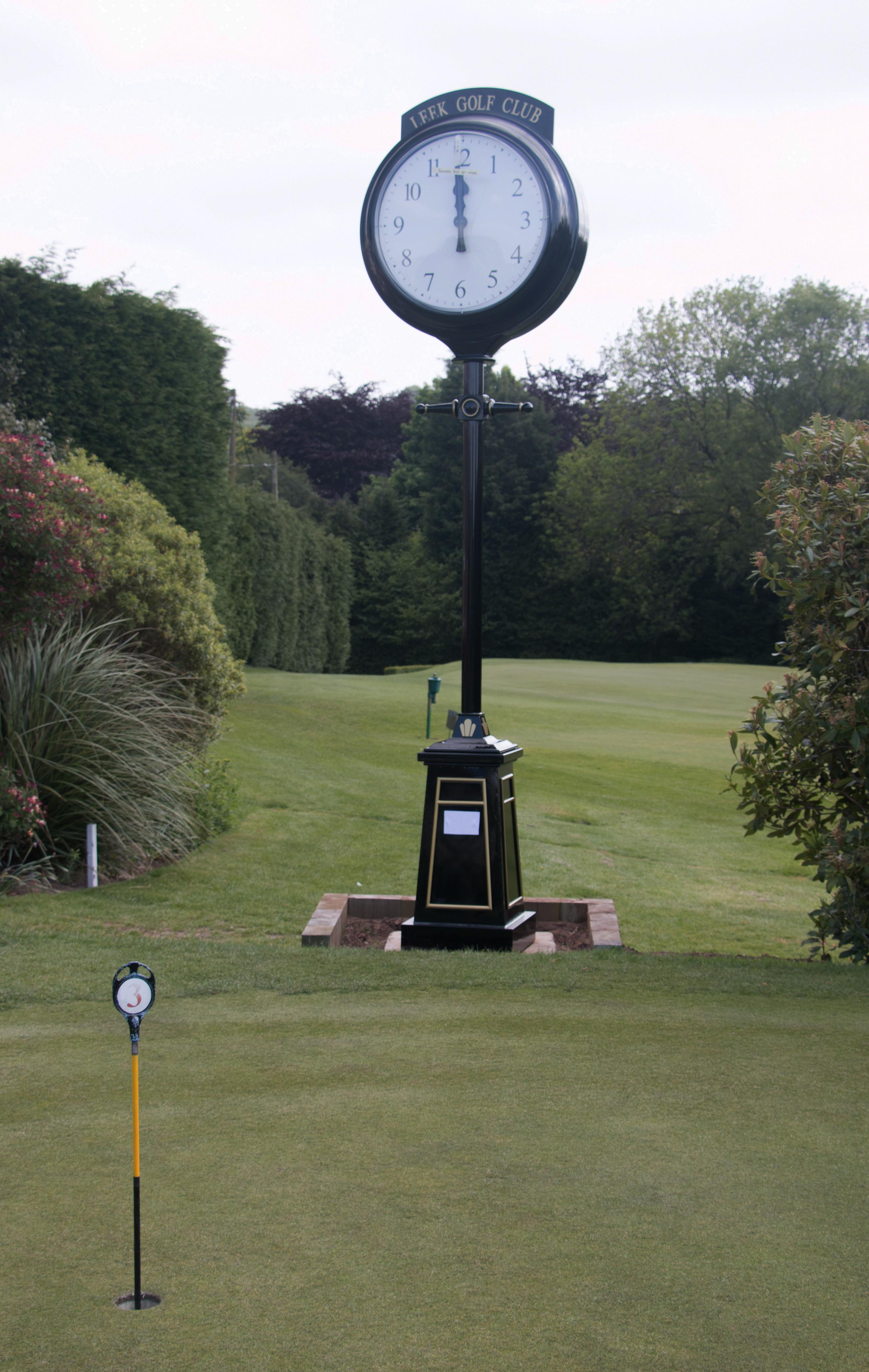 Pillar clock in place