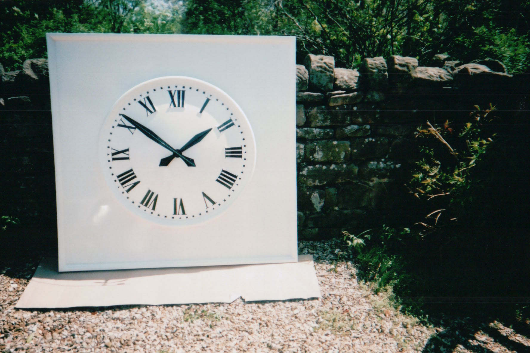 Bespoke Clock in housing for outdoors