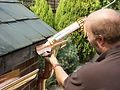 Copper metal gutters, easy to install guttering, silicone for fixing gutters