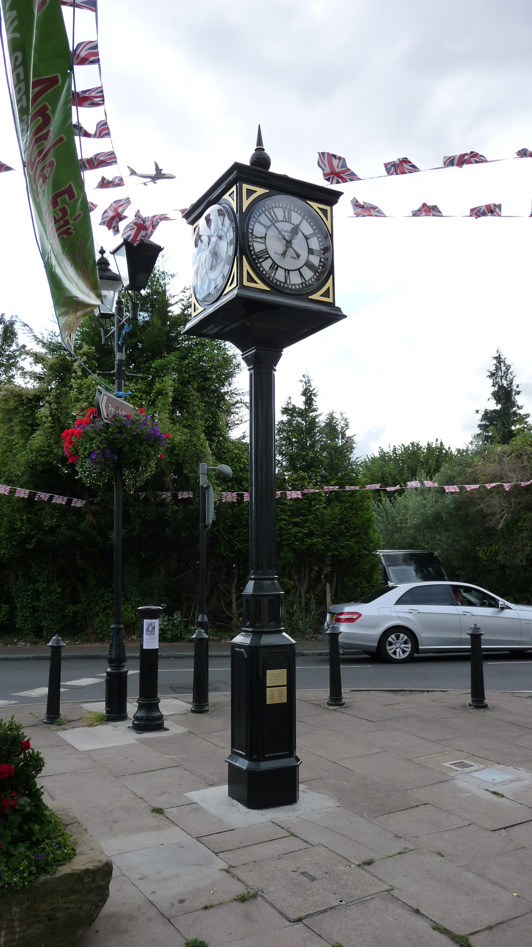 Civic pillar clock with four dials