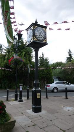 Civic pillar clock with four dials