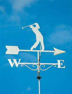 Stainless Steel Golfer Weathervane