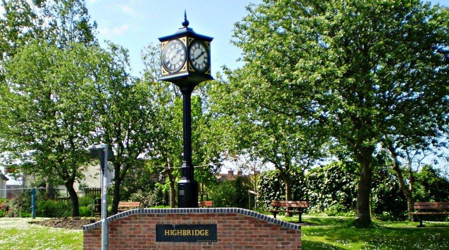 Four dial pillar clock
