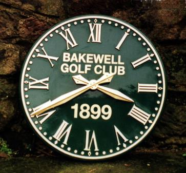 Green Devon Roman Outdoor Clock for Golf Course