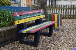 Friendship Bench & Bin
